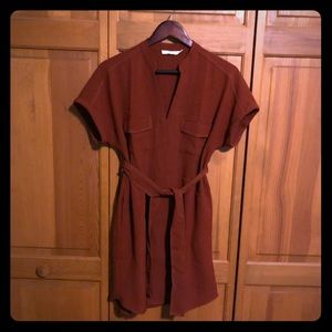Nordstrom Lush rust shirt dress tunic size S